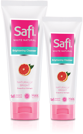 Skincare Halal Pencerah Wajah - Safi White Natural Brightening Cleanser Grapefruit Extract 50gr