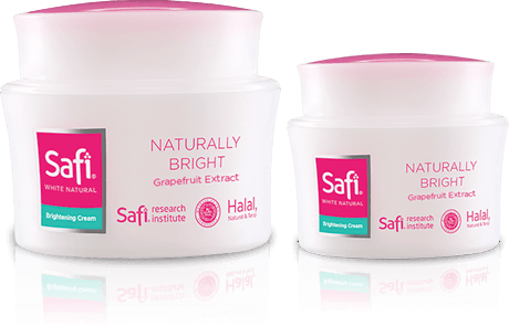 Skincare Halal Perlindungan Kulit Wajah - Safi White Natural Brightening Cream Grapefruit Extract 20 gr